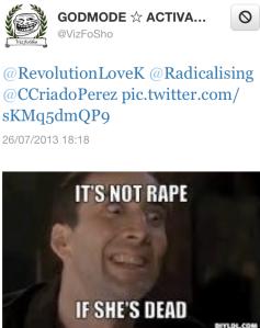 not rape if she's dead