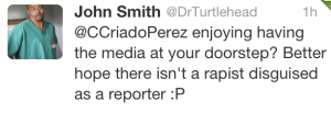 rapist disguised as reporter